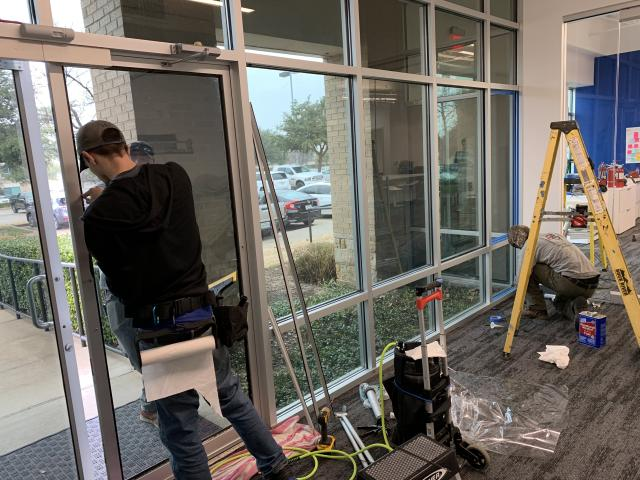 Installing window film - commercial property